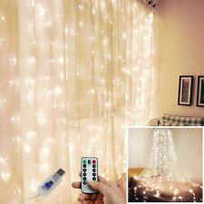 300 LED de luces de hadas Cortina USB Cadena de luz con control remoto Navidad Fiesta Boda