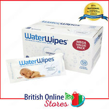 NEW WaterWipes Chemical Free  Natural & Sensitive 12 x 60 (720 Wipes)