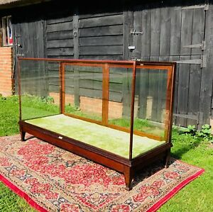 Edwardian glazed, mahogany framed shop counter / shop display cabinet