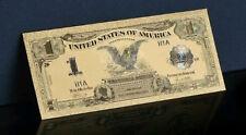 <GOLD>1899 Series $1.00 SILVER CERTIFICATE Black EAGLE Banknote *Rep.*US SELLER!