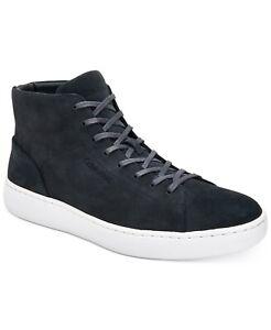 Calvin Klein Men's Frey High-Top Fashion Sneakers Suede Shoes Size 8.5M Grey