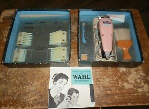 1964 wahls model SC pink clipper home barber kit works good in good shape used
