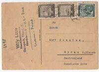alte Postkarte/Syrau/Plauen(Vogtland)/Sachsen/Österreich v. 1946/Privatpost