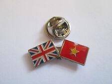Vietnam & Uk Friendship Enamel Metal Lapel Pin  -24 x 8mm   -  L078
