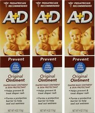 A + D Original Ointment, Diaper Rash & Skin Protectant - 4 oz tube (Pack of 3)