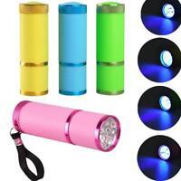 Nail Dryer Mini LED Flashlight UV Lamp Portable For Nail Gel Fast Dry 21