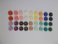 10 x Fish Eye Buttons Fish Eye Baby Buttons 16mm 23 Shades & Combined Postage