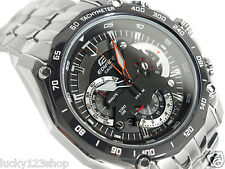 EF-550D-1A Black Casio Men's Watches Edifice Steel Band Chronograph Tachymeter