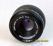 Ricoh riconar 55 mm 1:2,2 luz fuerte lente para Pentax K