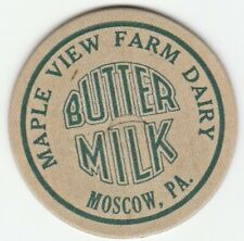 MILK BOTTLE CAP. MAPLE VIEW FARM DAIRY. MOSCOW, PA. REPRODUCTION