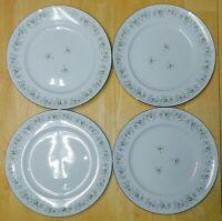 "SET OF 4 JOHANN HAVILAND BAVARIA GERMANY FOREVER SPRING FLORAL DINNER PLATES 10"""