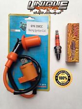 Scooter GY6 50cc 150cc RACING Ignition Coil and 3 Electrode Spark Plug