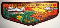 TU CUBIN NOONIE OA LODGE 508 UTAH NATIONAL PARKS COUNCIL PATCH OLD SERVICE FLAP