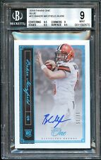 BAKER MAYFIELD 2018 PANINI ONE BLUE PARALLEL AUTO ROOKIE RC /35 BGS 9/10 BROWNS