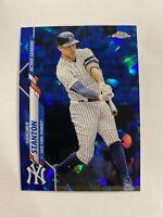 2020 Topps Chrome Update Sapphire Edition Giancarlo Stanton Card #U-288 Yankees
