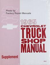 1965 Chevy Truck Suburban Van Factory Shop Service Repair Manual Supplement