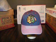 NHL Chicago Blackhawks REEBOK RED PINSTRAP S/M FACE OFF HEADWEAR CAP HAT NWT