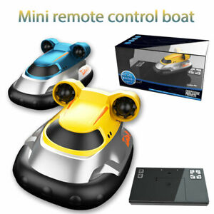 Wireless Mini Hovercraft Toy Water Electric Remote Control Boat Speedboat