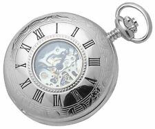 Woodford Esqueleto Reloj Bolsillo Mecánico Cazador Media-Plata