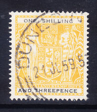 Nueva Zelanda 1955 SGF192aw 1/3 Amarillo y Negro wmk Up Postal Fiscal F/U. Gato £ 35