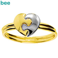 Puzzle Heart Plain 9ct 9k Solid Yellow Gold Ring Size P 7.75 45113