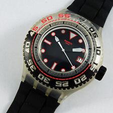 swatch scuba libre stormy suuk400 orologio nero uomo donna raro da collezione