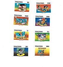 Tanzania - Disney Stamps - Set of 8 Stamps - MNH Set