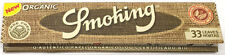 Smoking Organic King Size Cigarette Papers (Pack of Five Booklets)