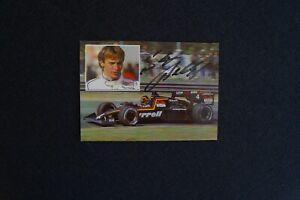 orig. signiert Formel 1 Deutschland Stefan Bellof Autogrammkarte