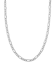 Italian Made .925 Sterling Silver 24 Inch Figaro Chain Link Necklace 4mm N100