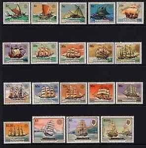Penryhn 1984 QE2 Definitives - Sailing Craft & Ships SG 337/55 Cat £42 MNH