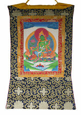 Thangka tibetaine Green Tara verte Tenture Tangka Bouddhiste 78x54cm 5813