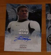 Topps STAR WARS Force Awakens Serie 2 Card Autograph FINN JOHN BOYEGA Carte rare