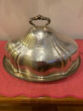 Reed & BartonSilver Soldered Cover & Silver Plated Serving Tray