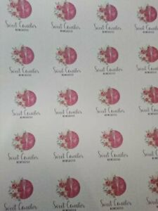 10x A4 Custom Logo Translucent Printed Packaging Sheets In Vellum Tissue Paper