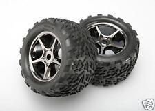 5374X Traxxas R/C Car Parts Tires & wheels Assembled Glued Gemini Black Chrome