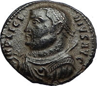 LICINIUS I Authentic Ancient Roman Original 317AD Coin JUPITER & VICTORY i67764