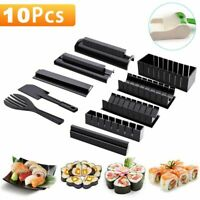 Sushi Making Multifunction Rice Roll Mold Maker Diy Kitchen 10pcs Set