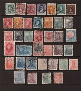 Argentina 1867 -1922 used stamps selection