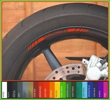 8 x MV AGUSTA BRUTALE wheel rim decals stickers - 675 800 920 1090 dragster