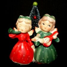Vintage Commodore Christmas Angel Girl Candle Holder with Tree
