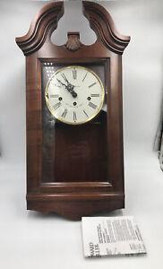 HOWARD MILLER KEY-WIND WALL CLOCK WINDSOR CHERRY FINISH MODEL 620-132