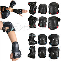 6pcs Set Protector Kids Adult Skating Scooter Elbow Knee Wrist Safety Pads Gear