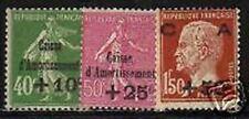 "FRANCE STAMP TIMBRE 253 / 255 "" 3ere SERIE C.A. "" NEUFS xx TTB, VALEUR:275€"