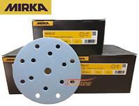 """150mm MIRKA Sanding Discs / Pads 6"""" Hook N Loop 40 - 800 GRIT Vecro Sandpaper"""
