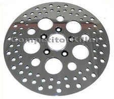 "11.5"" Front Harley Brake Rotor Polished Finish Standard Stainless Steel Drilled"