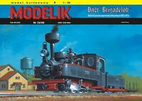 "ORIGINAL PAPER-CARD MODEL KIT - Narrow gauge steam locomotive ""BRIGADELOK"" Dn2t"