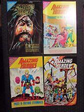 1985 Amazing Heroes #71-74 Lot of 4 Fvf Alan Moore - Avengers - Eternals
