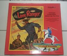 THE LONE RANGER SCHYLLING WIND UP TIN TOY W/LIMITED EDITION CERTIFICATE  BOX.