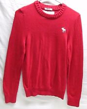 Abercrombie & Fitch Men's M Medium Muscle Sweater Red